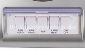 5 công tắc điều khiển đèn và quạt