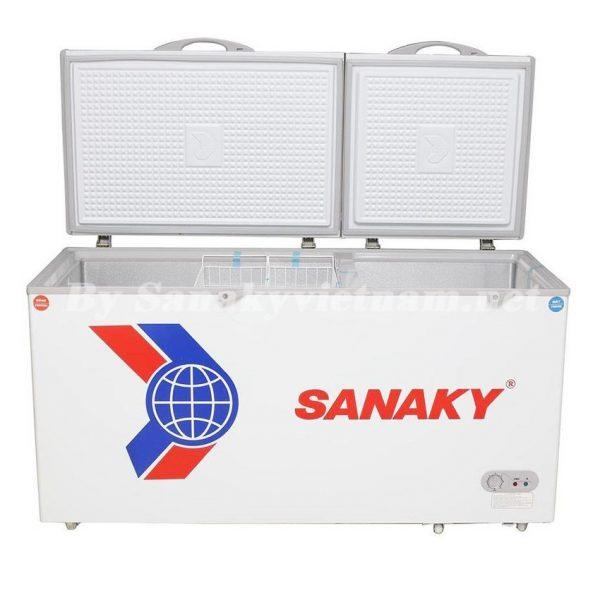 Tủ đông Sanaky VH-568W2 với 2 ngăn 2 cánh