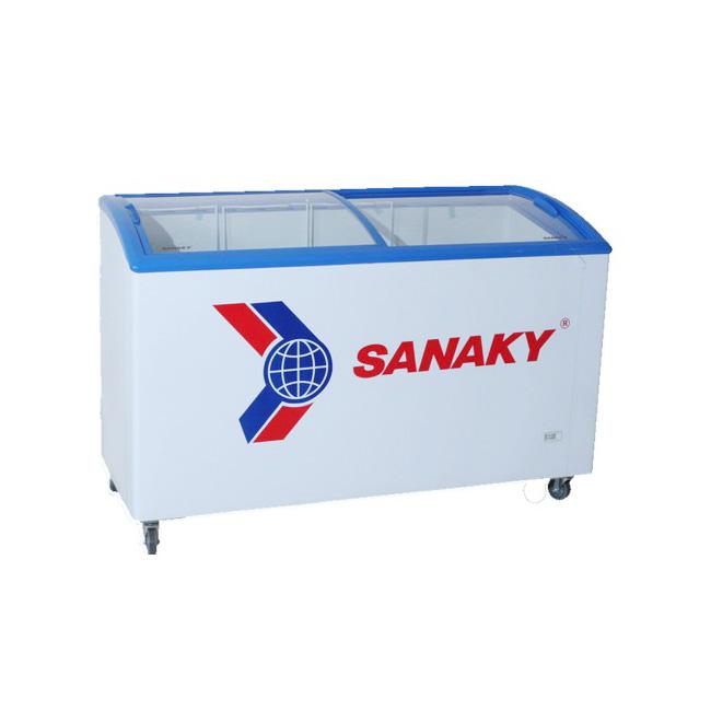 Tủ đông Sanaky VH-402KW nắp kính cong, 2 ngăn đông mát