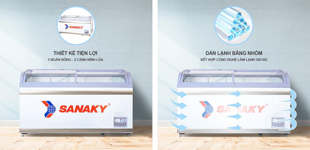 Công nghệ mới tủ đông Sanaky VH-888K