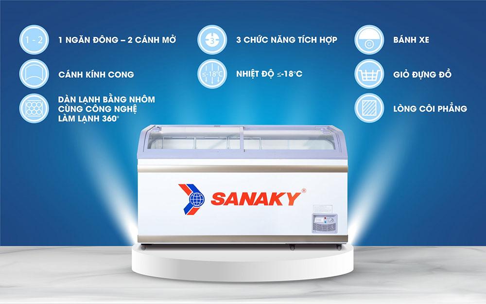Thông số kỹ thuật tủ đông sanaky vh-888k
