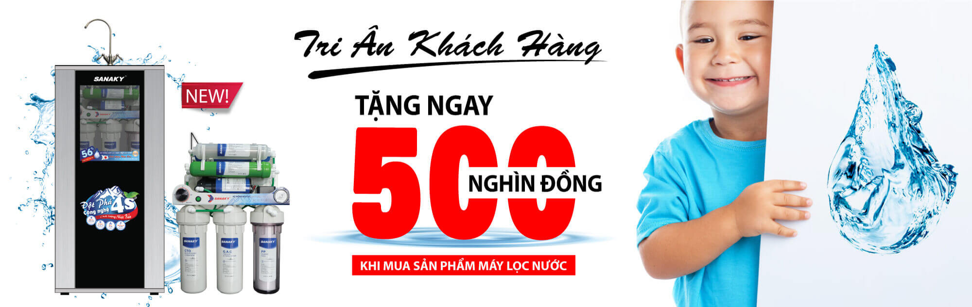 Banner máy lọc nước ro sanaky
