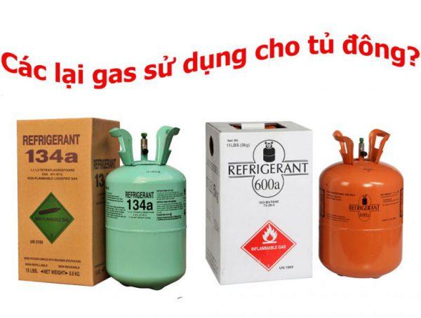 các loại gas sử dụng cho tủ đông tủ mát