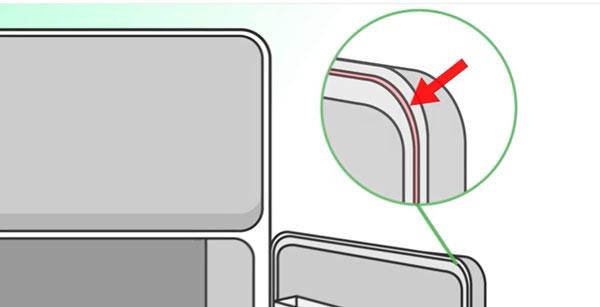 Kiểm tra miếng đệm cửa tủ