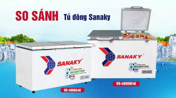 So sánh tủ đông VH-4099A4K và VH-4099W4K dung tích 400 lít