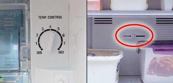 Tại sao tủ lạnh lại có 2 nút điều chỉnh nhiệt độ