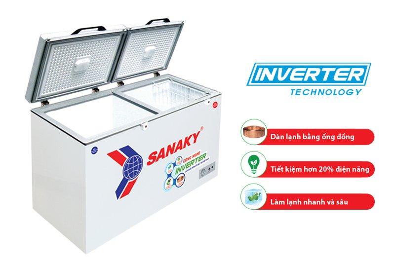 thông số kỹ thuật tủ đông inverter sanaky vh-2299w3