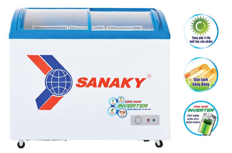 Thông số kỹ thuật tủ đông kính lùa cong Sanaky VH-4899K3