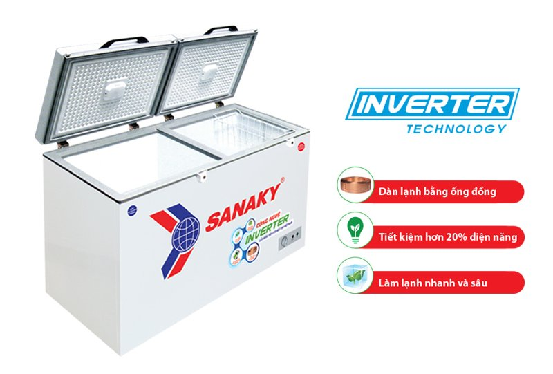 Thông số kỹ thuật của tủ đông Inverter Sanaky VH-5699W3