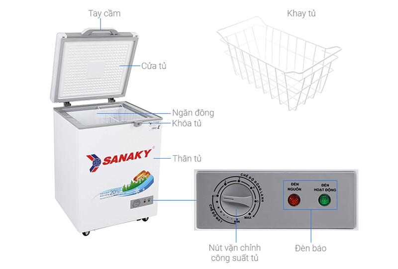 Thông số kỹ thuật tủ đông Sanaky VH-150HY