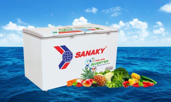 tủ đông 1 ngăn 2 cánh Sanaky Inverter