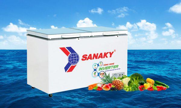 tủ đông mặt kính cường lực Sanaky Inverter
