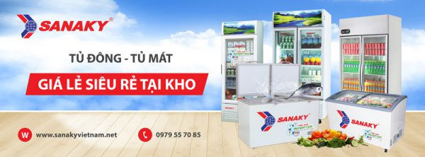 Tủ đông Sanaky chính hãng giá rẻ tại kho