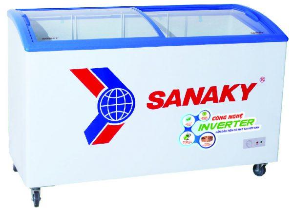 Một số dòng tủ đông Sanaky mặt kính lùa cong