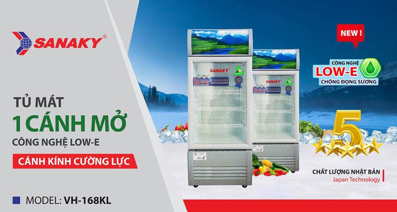 Video thực tế tủ mát Sanaky VH-168KL